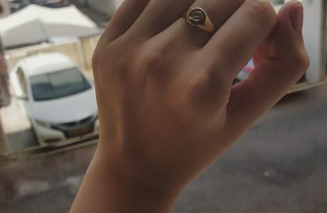 טבעת עיגול זהב