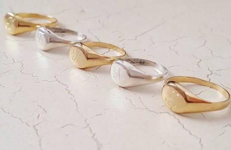 טבעת עיגול כסף