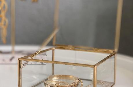קופסת זכוכית גולדי