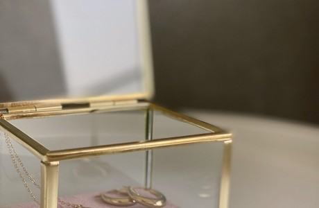 קופסת זכוכית פינק